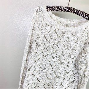 Anthropologie MOTH Oatmeal Oversize Knit Sweater